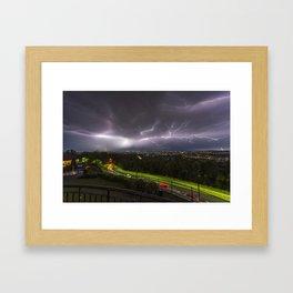 Summer Storm Over Brisbane Framed Art Print
