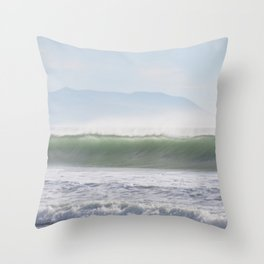Wave Spray Throw Pillow