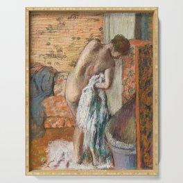 Edgar Degas - Naked lady. Après le bain Serving Tray