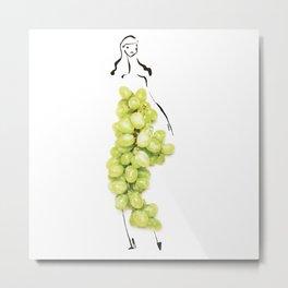 Edible Ensembles: Green Grapes Metal Print