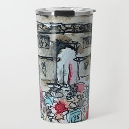 Arc de Triomphe Tour de France Watercolor Travel Mug