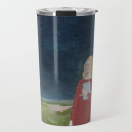 she looked to the moon for answers Travel Mug