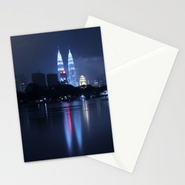 Petronas Towers taken from Lake Titiwangsa in KL Malaysia. Stationery Cards