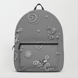 Gray hearted Backpack