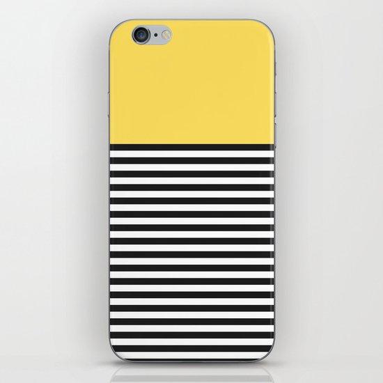 STRIPE COLORBLOCK {LEMON} iPhone & iPod Skin