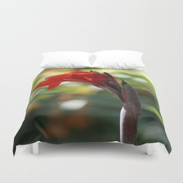 Red Canna Lily Duvet Cover