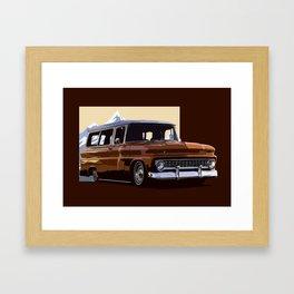 Old Chevy Ilustration Framed Art Print