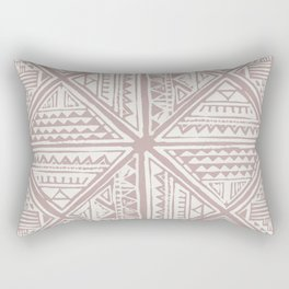 Simply Tribal Tile in Red Earth on Lunar Gray Rectangular Pillow