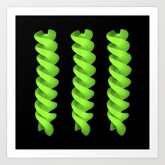 green pasta IV Art Print