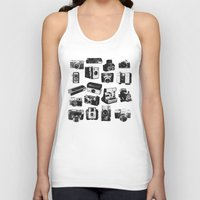 cameras Tank Tops featuring Cameras by ELCORINTIO