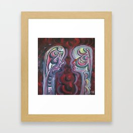 Spiritual comunication Framed Art Print