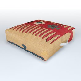 Parmakli Kütahya West Anatolian Kilim Print Outdoor Floor Cushion