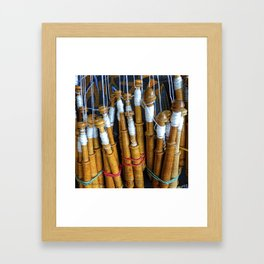 Bolillos or Lace Spindles Framed Art Print