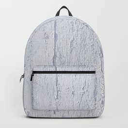 Close up of Old Grunge Weathered White Painted Plywood Backpack