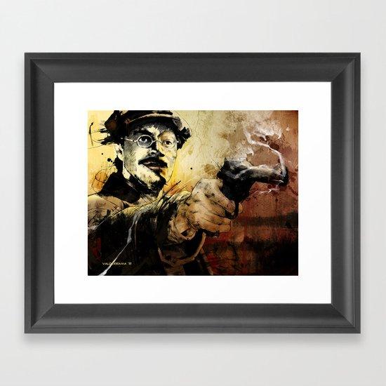 Halk Mask Framed Art Print
