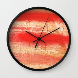 Burnt sienna abstract watercolor Wall Clock