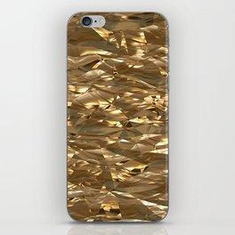 Golden Crinkle iPhone Skin