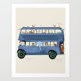 the big blue bus Art Print