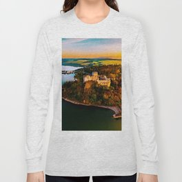 Nidzica Castle in Pieneny National Forest, Poland Long Sleeve T-shirt