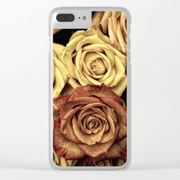 Roses jaunes Clear iPhone Case