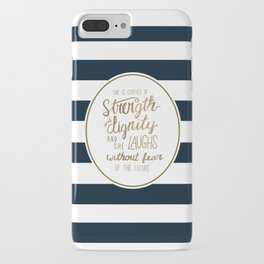 Strength, Dignity, and Stripes iPhone Case