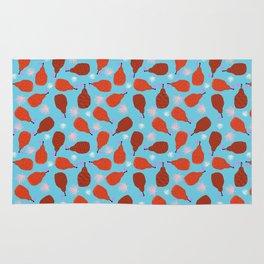 Legit - pears pattern print retro pattern throwback nature minimal modern abstract bright neon 80s Rug