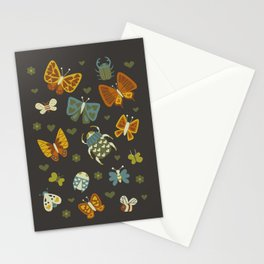 Love Bugs on Gray Stationery Cards