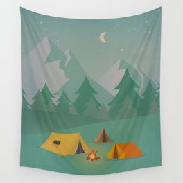 Mountain Camp Wall Tapestry
