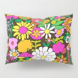 60's Groovy Garden in Chocolate Brown Pillow Sham