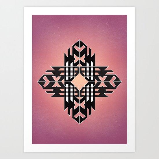 Aztec Track Art Print