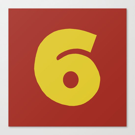 Number 6 Canvas Print