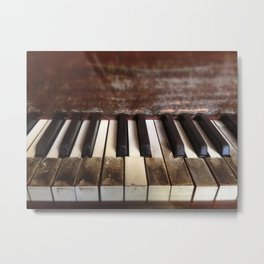 Dying Keys Metal Print