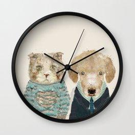 little puppy little kitty Wall Clock