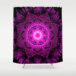 Mandala Evening Star Spiritual Zen Bohemian Hippie Yoga Mantra Meditation Shower Curtain