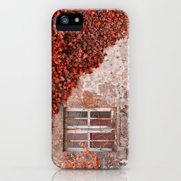 Red Ivy Wall iPhone Case