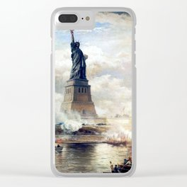 Statue of Liberty Unveiling Clear iPhone Case