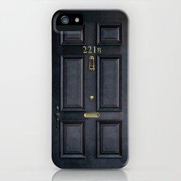 Haunted black door with 221b number iPhone Case