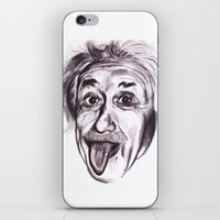 einstein iPhone & iPod Skins featuring Einstein by Alicia Evans