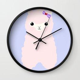 Alpaca in Love V 2 Wall Clock