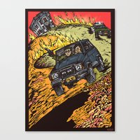 goonies Canvas Prints featuring The Goonies by Carol Wellart