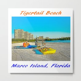 Tigertail Beach, Marco Island, Florida Metal Print