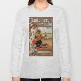 1890s Blankenberge North Sea beach travel Long Sleeve T-shirt