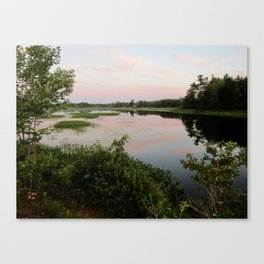 Pennamaquan River at Sunset Canvas Print