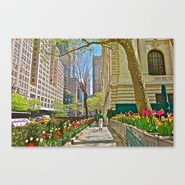 Tulips at the the New York Public Library Canvas Print