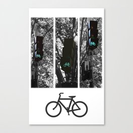 cycle to the city Canvas Print