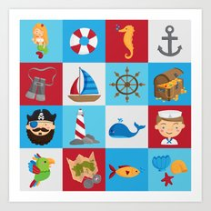 Ahoy There! Art Print