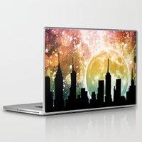 moonrise Laptop & iPad Skins featuring Moonrise by Jenndalyn