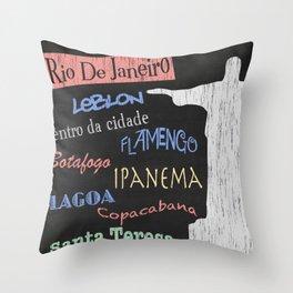 Rio De Janeiro Tourism Poster Throw Pillow
