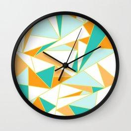 PUMPKIN GLASS WINDOW Wall Clock