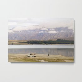 Alone at the Lake Metal Print